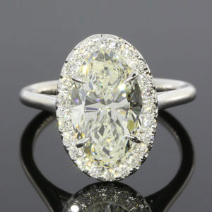 $18,000.00 Loan On 3.61CTW Oval Halo Ring