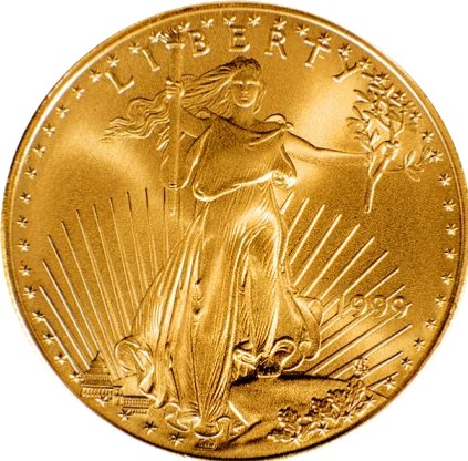 The American Goldeagle, the official US bullion coin.