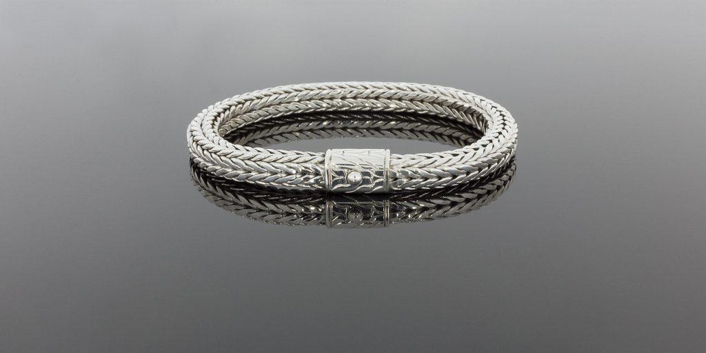 John Hardy sterling silver woven bracelet.