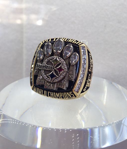 The Pittsburgh Steelers 2005-2006 Championship Ring.