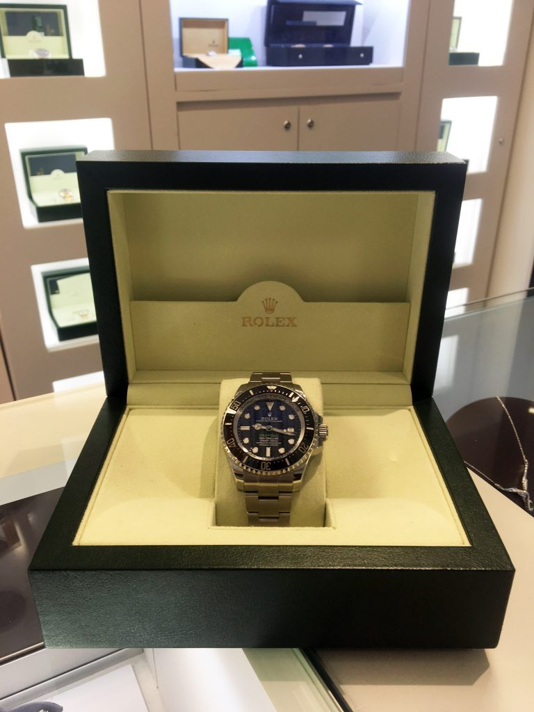 rolex deepsea in box