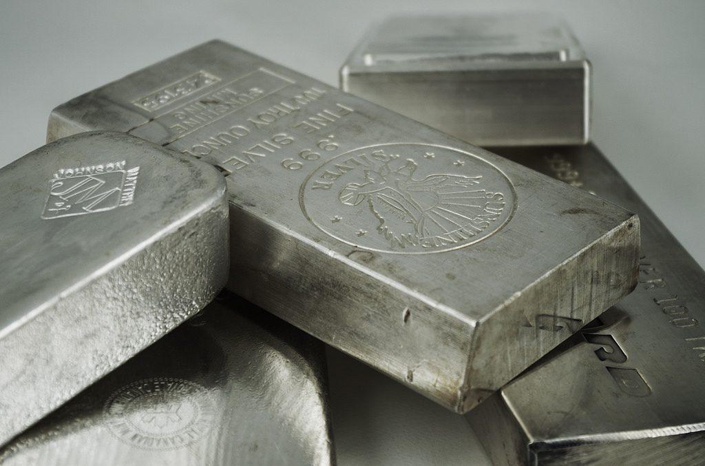 Fine silver bullion bars.