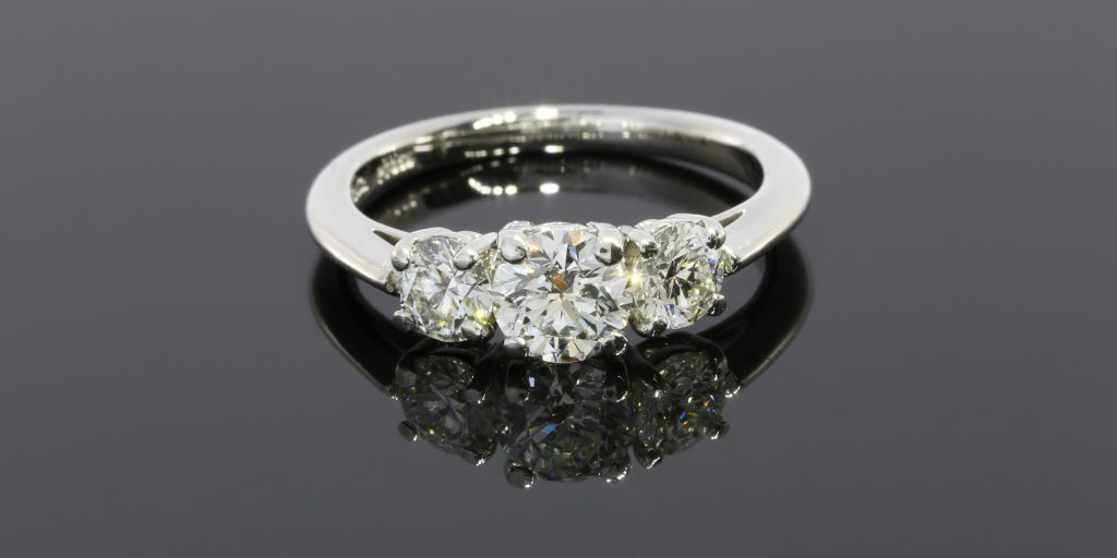 Capetown Capital Lenders bought this Tiffany & Co. three stone diamond engagement ring for $3,400.00.