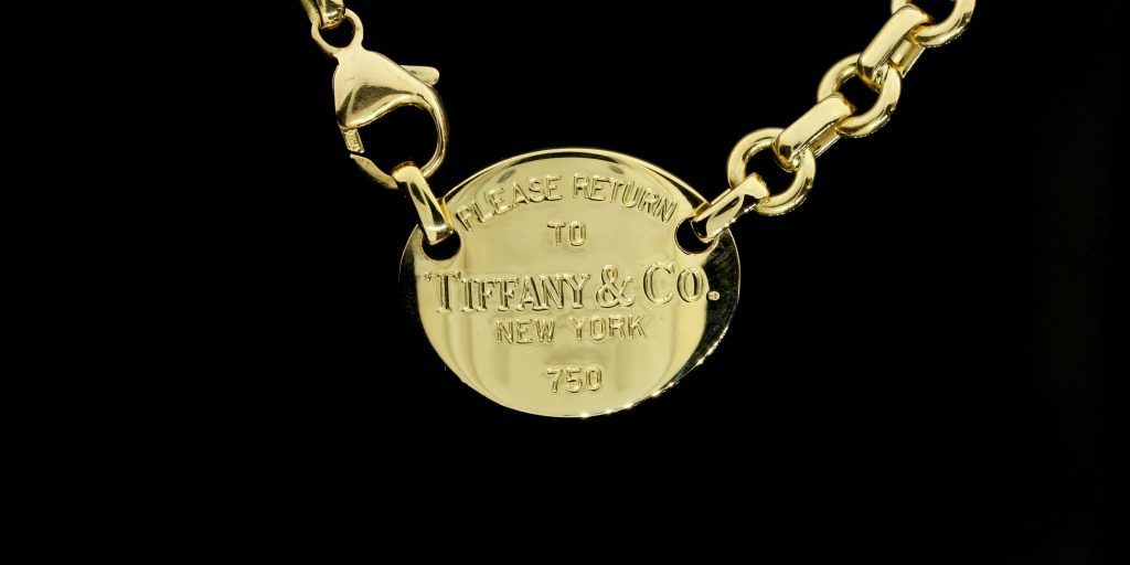 "Capetown Capital Lenders bought this Tiffany & Co. yellow gold ""Return to Tiffany"" necklace for $1,600.00."